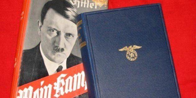 Un exemplaire du livre «Mein Kampf» retiré d'une vente aux enchères en
