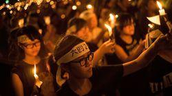 Tiananmen: grand rassemblement à Hong Kong