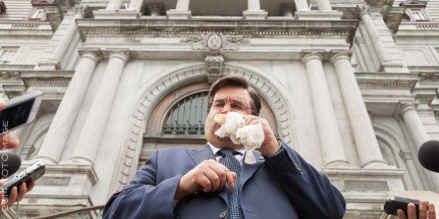 Canadien-Rangers: Denis Coderre honore son pari avec le maire de New York