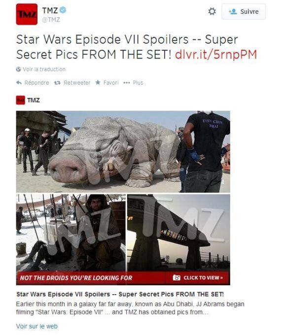 Star Wars 7: des photos du tournage ont fuité selon le site américain TMZ, qui les