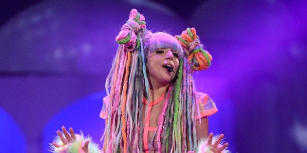 SUNRISE, FL - MAY 04: Lady Gaga performs onstage during 'The ARTPOP Ball' tour opener at BB&T Center...