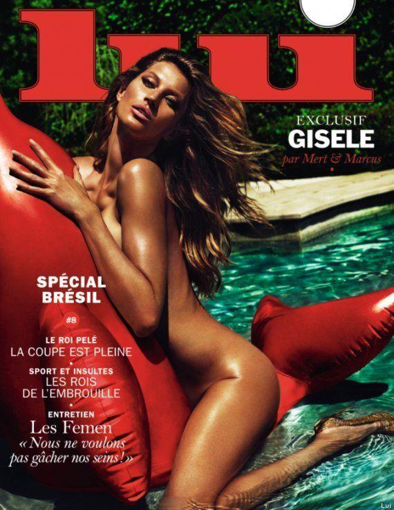 Le magazine «Lui» s'offre Gisele Bündchen nue et les Femen