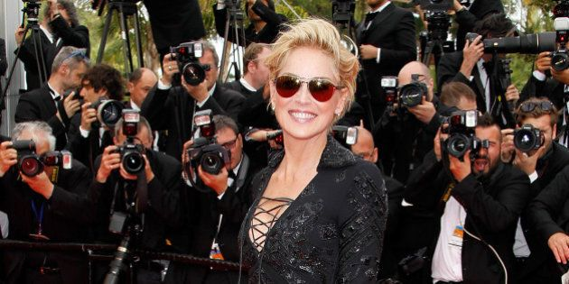 CANNES, FRANCE - MAY 21: Sharon Stone attends the Premiere of 'The Search' at the 67th Annual Cannes...