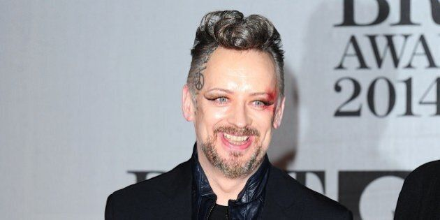 Boy George arriving for the 2014 Brit Awards at the O2 Arena,