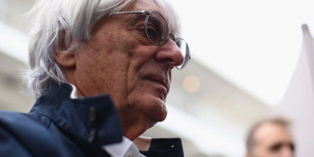 AUSTIN, TX - NOVEMBER 14: F1 supremo Bernie Ecclestone arrives in the paddock during previews to the...
