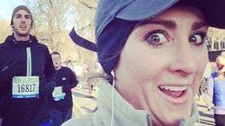 Elle photographie les beaux garçons du semi-marathon de New York pendant sa course