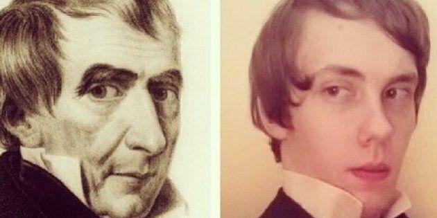 Sur Instagram, il imite les présidents américains célèbres