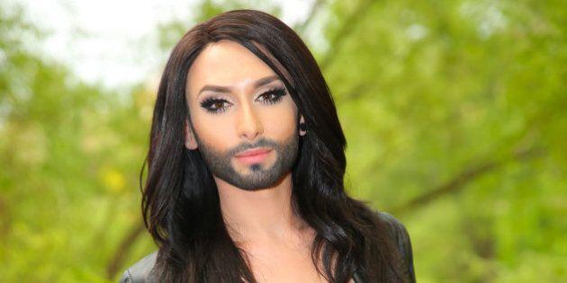 VIENNA, AUSTRIA - APRIL 22: Austrian participant Conchita Wurst poses at the 'Eurovision Song Contest'...