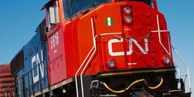 Six wagons d'un convoi du CN déraillent au
