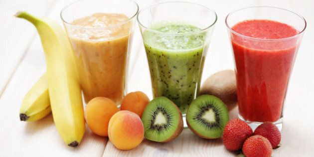 various fruity shakes with...