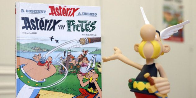The new comic of the popular Asterix series 'Asterix chez les Pictes' (Asterix and the Picts), written...