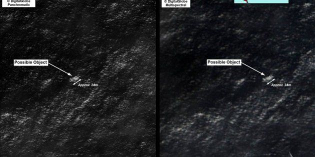 INDIAN OCEAN - In this handout Satellite image made available by the AMSA (Australian Maritime Safety...