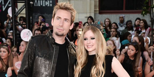 TORONTO, ON - JUNE 16: Chad Kroeger and Avril Lavigne arrives at the 2013 MuchMusic Video Awards at MuchMusic...