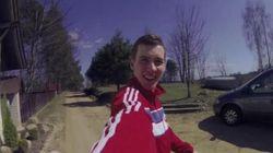 Cet ado se filme aux quatre coins de l'Europe avec sa GoPro