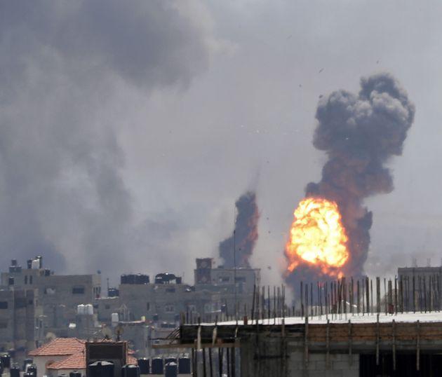Εικόνα έκρηξης στην πόλη...