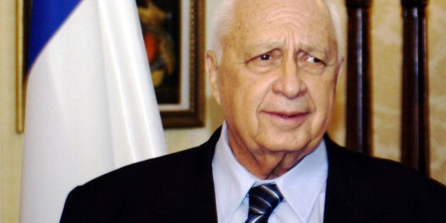 Israeli prime minister Ariel Sharon at the Churchill Inter-Continental Hotel, London, where he met Tory...