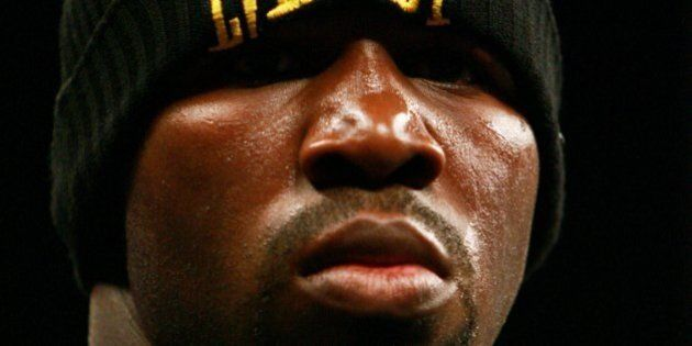 TAMPA, FL - DECEMBER 2: Jeff Lacy looks on in the ring before a super middleweight fight against Vitali...