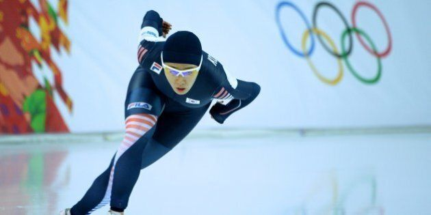 South Korea's Lee Sang-Hwa competes in the Women's Speed Skating 500 m at the Adler Arena during the 2014 Sochi Winter Olympics on February 11, 2014.  AFP PHOTO / JUNG YEON-JE        (Photo credit should read JUNG YEON-JE/AFP/Getty Images)