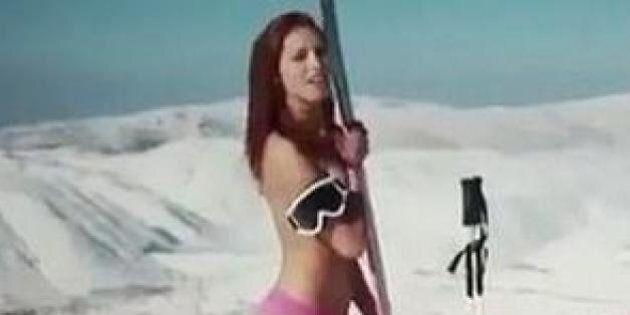 Sotchi 2014: la vidéo de la skieuse libanaise Jackie Chamounne nue fait des