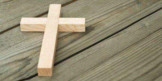 wooden cross on wood