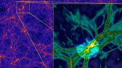 Des filaments qui relieraient les galaxies sont observés pour la première