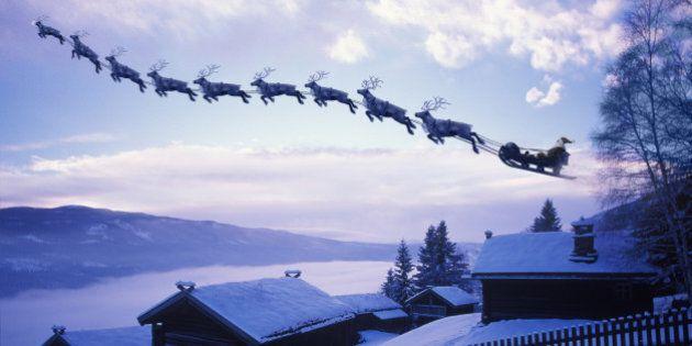 Suivez le trajet du père Noël en direct grâce à deux sites