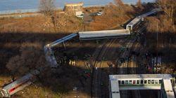 Un train de passagers déraille dans le Bronx à New York