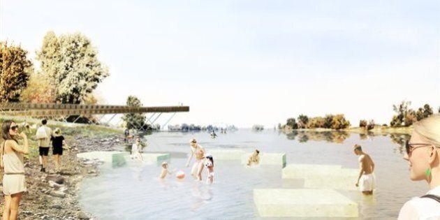 Montréal: Le projet de la Plage de l'Est commence à prendre