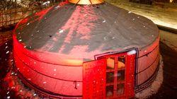 Une terrasse nordique sur le toit de la