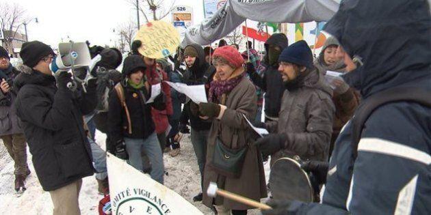 Des dizaines de personnes manifestent à Repentigny contre l'inversion du pipeline 9B
