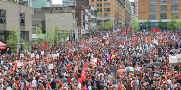Un étudiant, Nicolas Lachance-Barbeau, est condamné à payer 4000 $ pour l'organisation d'une manifestation...