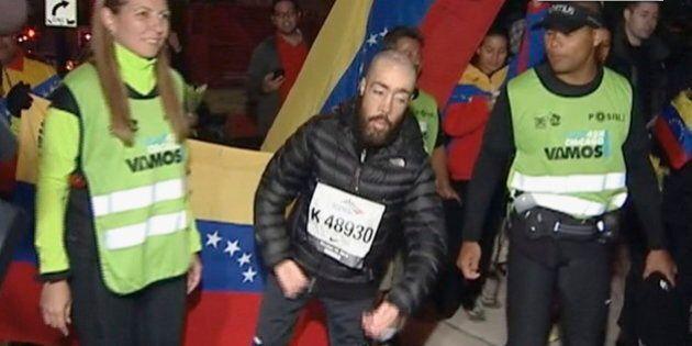 Un homme atteint de dystrophie musculaire court le marathon de