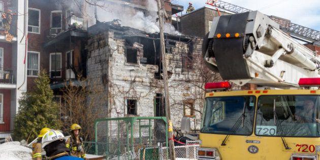 Important incendie dans Hochelaga-Maisonneuve