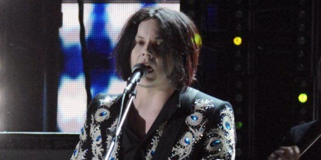 LOS ANGELES, CA - FEBRUARY 10:  Musician Jack White performs onstage at the 55th Annual GRAMMY Awards at Staples Center on February 10, 2013 in Los Angeles, California.  (Photo by Jeff Kravitz/FilmMagic)