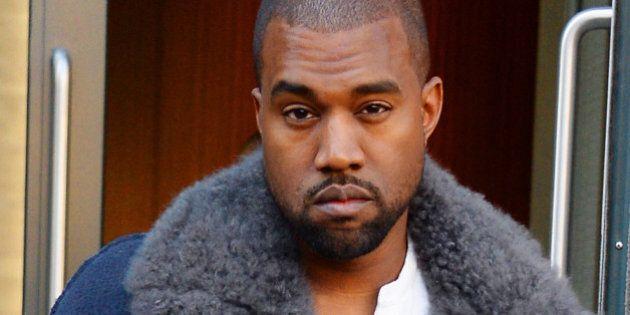 NEW YORK NY - NOVEMBER 20: Kanye West sighting on November 20, 2013 in New York City. (Photo by Josiah Kamau/BuzzFoto/FilmMagic)