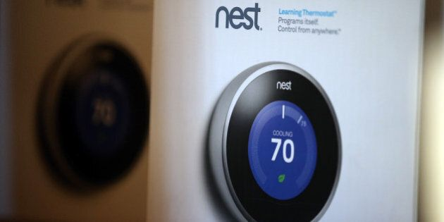 SAN RAFAEL, CA - JANUARY 13: The Nest Learning Thermostat is displayed at a Home Depot store on January...
