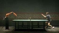 Ping pong: un robot contre un champion?