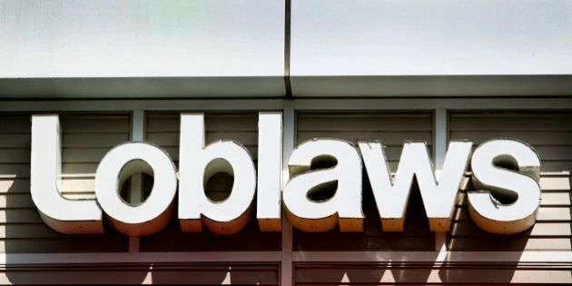 Loblaws Cos. Ltd. signage is displayed outside of a store in Toronto, Ontario, Canada, on Wednesday,...