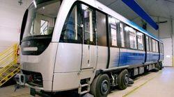 Bombardier dévoile les nouvelles voitures du métro de Montréal à La Pocatière
