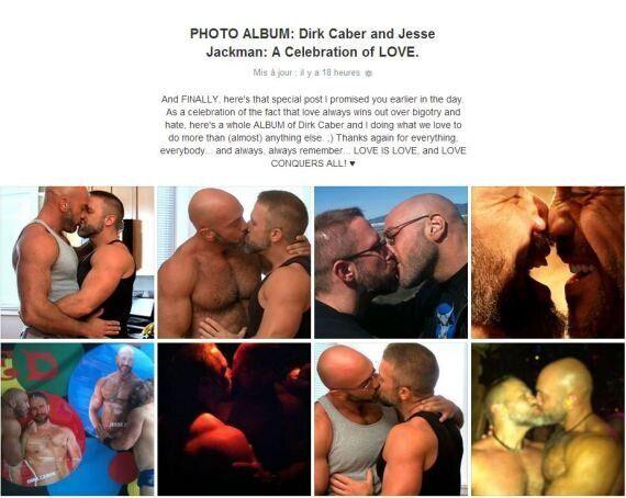 Facebook: un acteur porno gai voit son compte suspendu après une photo de lui embrassant son