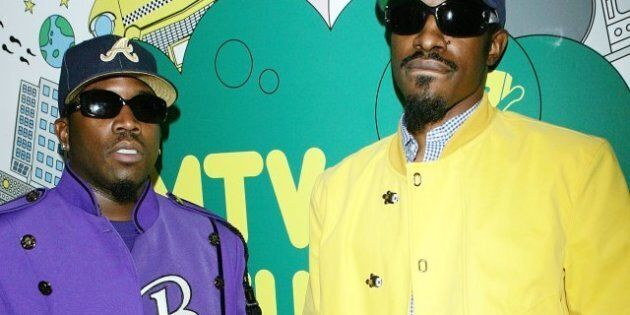 NEW YORK - AUGUST 22: (U.S. TABS OUT) Actor/rappers Antwan A. (Big Boi) Patton (L) and Andre (Andre 3000)...