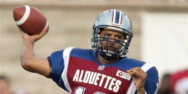 Alouettes de Montréal: Anthony Calvillo souffre d'une commotion