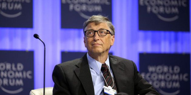 Bill Gates, co-chair and trustee of Bill and Melinda Gates Foundation, pauses during a session on day...