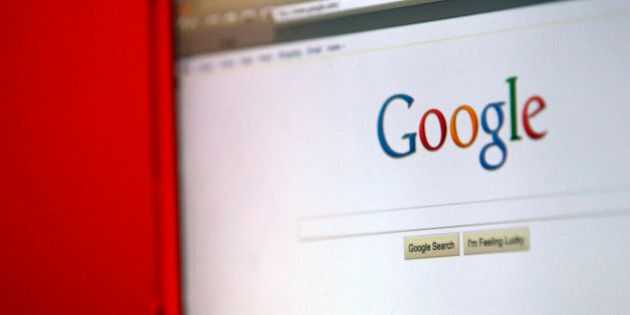 Google Inc.'s home page is displayed on a computer screen in Santa Clara, California, U.S., on Wednesday,...