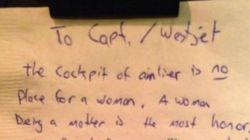«Le cockpit d'un avion n'est pas un endroit adapté pour une femme»