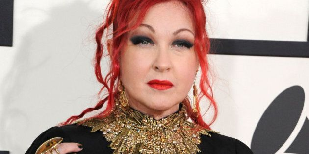 LOS ANGELES, CA - JANUARY 26: Cyndi Lauper arrivals at the 56th GRAMMY Awards on January 26, 2014 in...