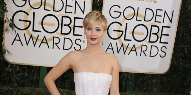 BEVERLY HILLS, CA - JANUARY 12:  Actress Jennifer Lawrence attends the 71st Annual Golden Globe Awards held at The Beverly Hilton Hotel on January 12, 2014 in Beverly Hills, California.  (Photo by Steve Granitz/WireImage)