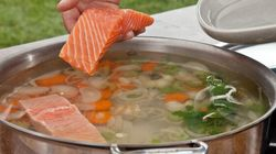 Défi des cuissons: Aiglefin poché, polenta et son velouté de courge