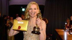 Cate Blanchett célèbre son Oscar chez le