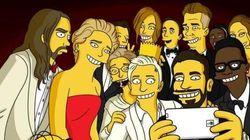 Selfie des Oscars: Simpson, Lego, DiCaprio... les détournements continuent